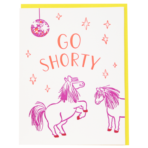 Dancing Ponies Birthday Card