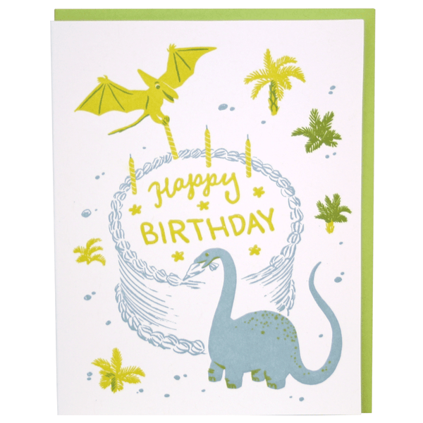 Dinosaur Bakers Birthday Card
