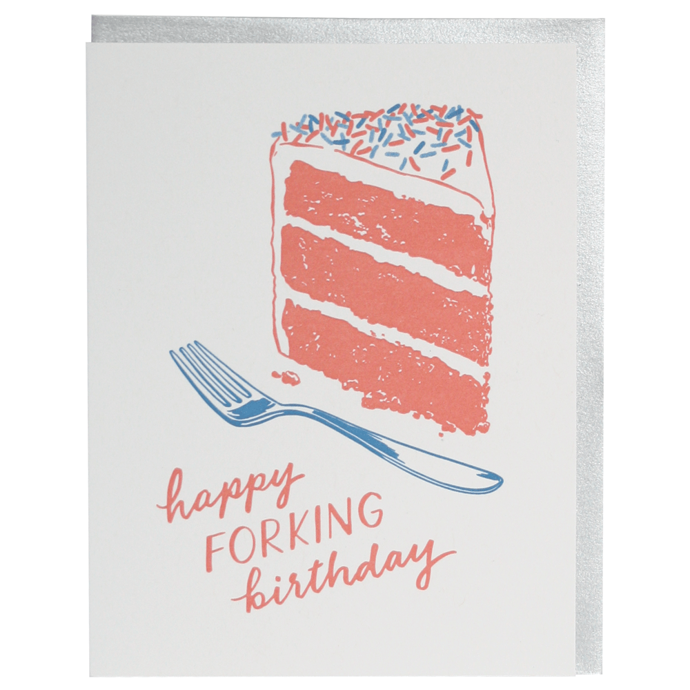 Fork Birthday Card