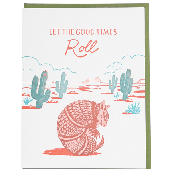 Armadillo Birthday Card