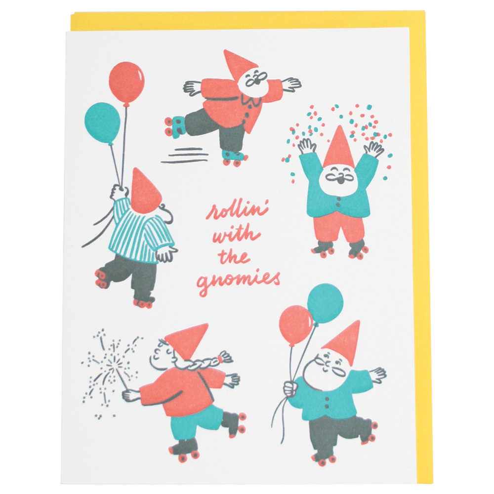 Gnomies Birthday Card