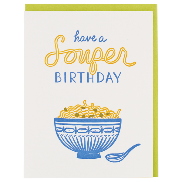 Soup Birthday Card