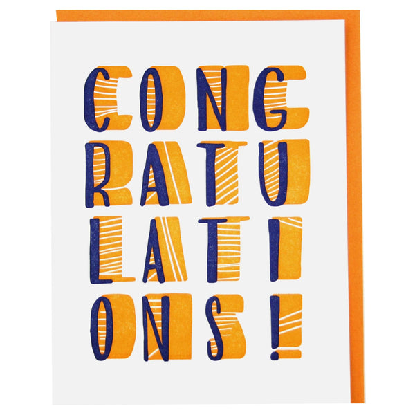 Stacked Congratulations Card