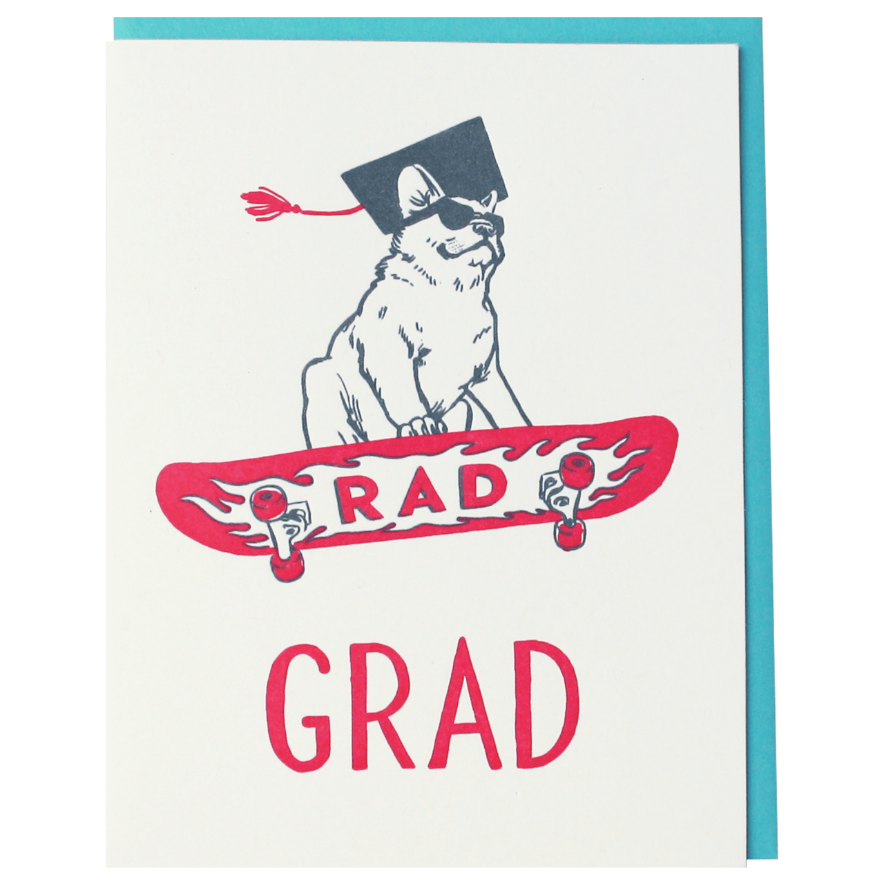 Rad Frenchie Graduation Card