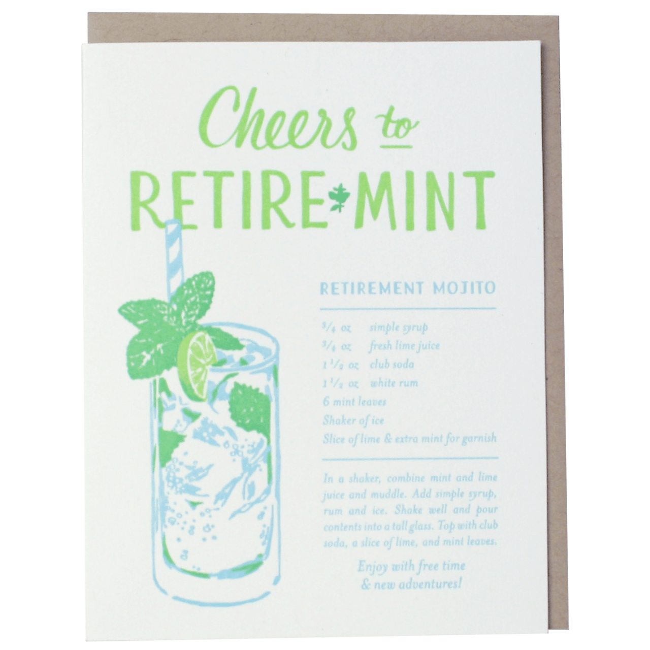 Mojito Recipe Retirement Card