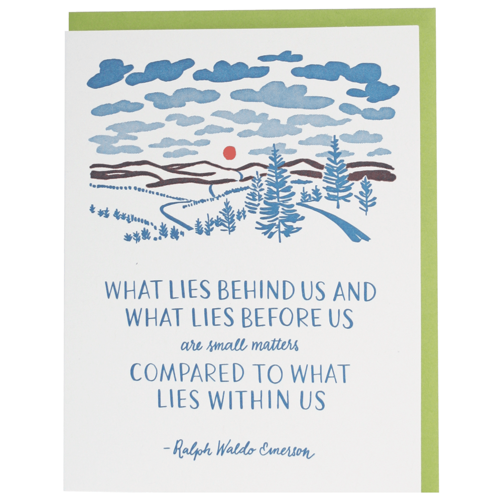 Within Us Quote Congratulations Card