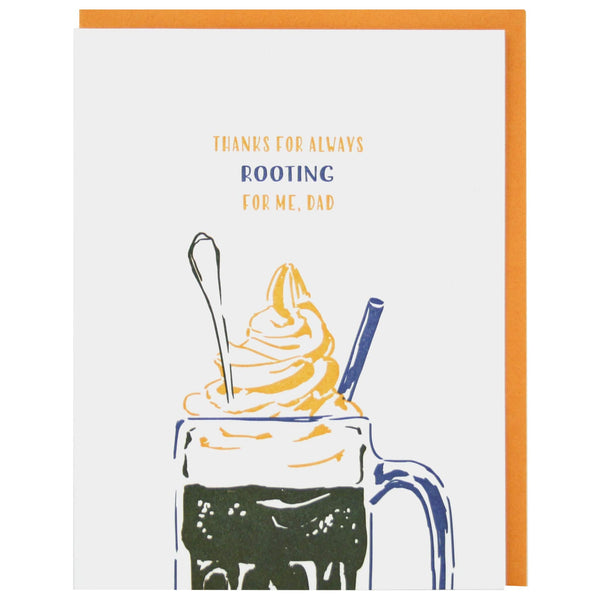 Root Beer Float Father's Day Card