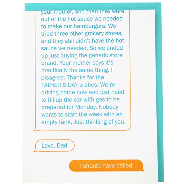 Texting Dad Father's Day Card