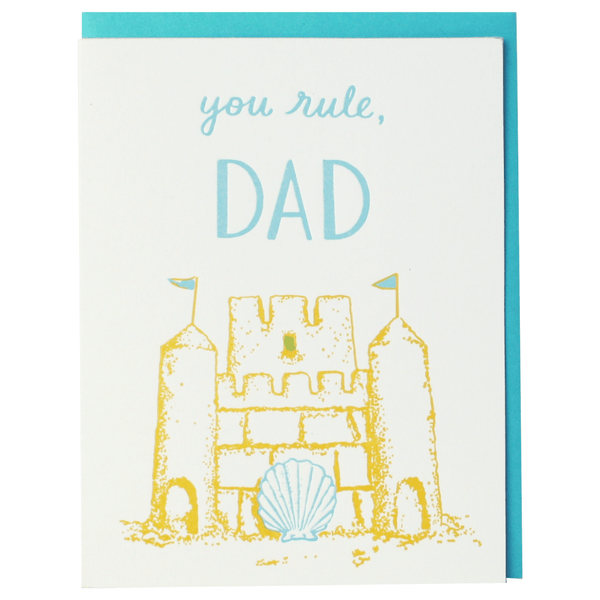 Sandcastle Father's Day Card