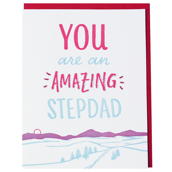 Mountain Stepdad Father's Day Card