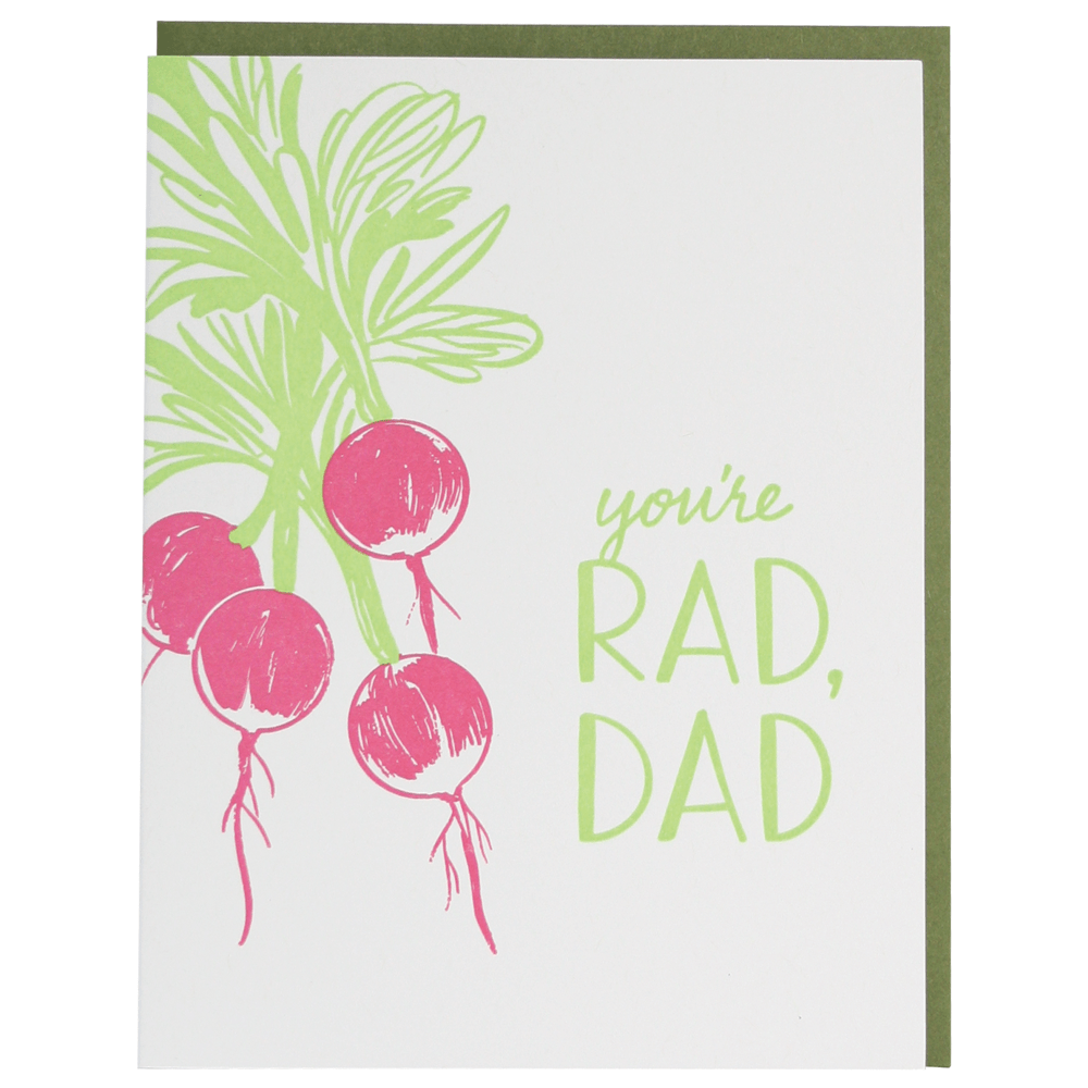 Radish Father's Day Card