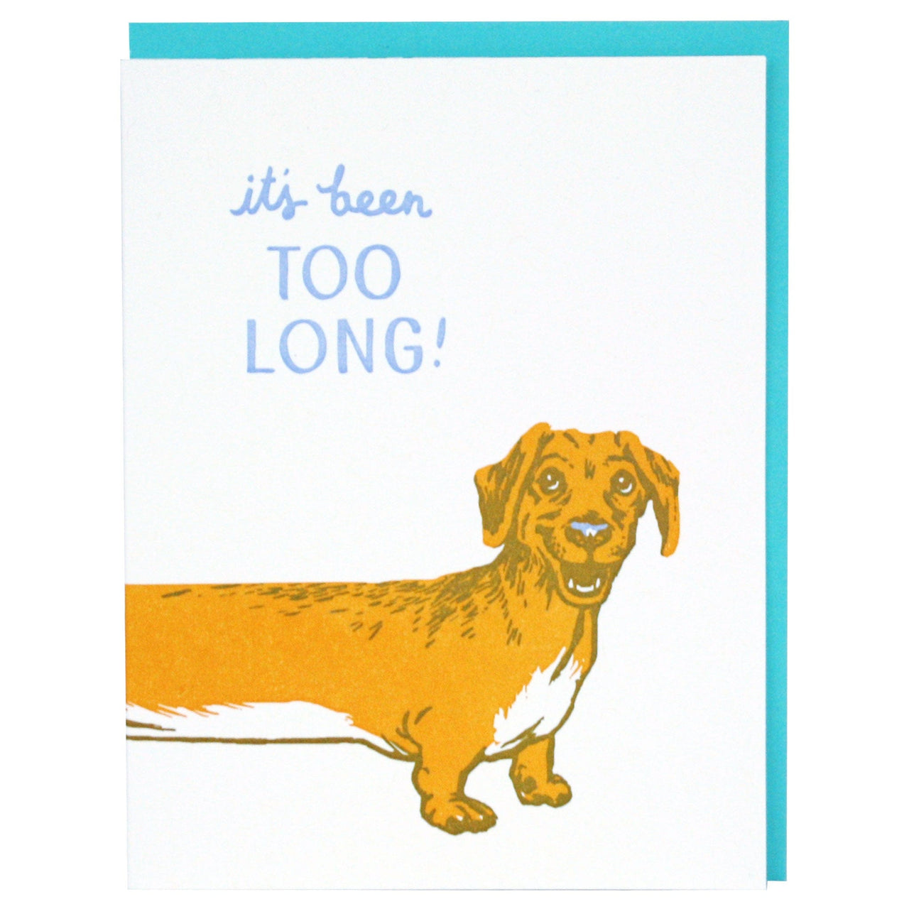 Long Dachshund Friendship Card
