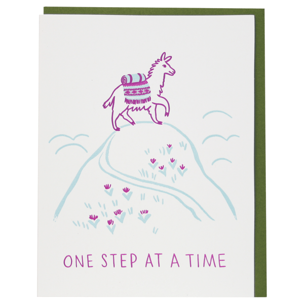 Mountain Llama Encouragement Card