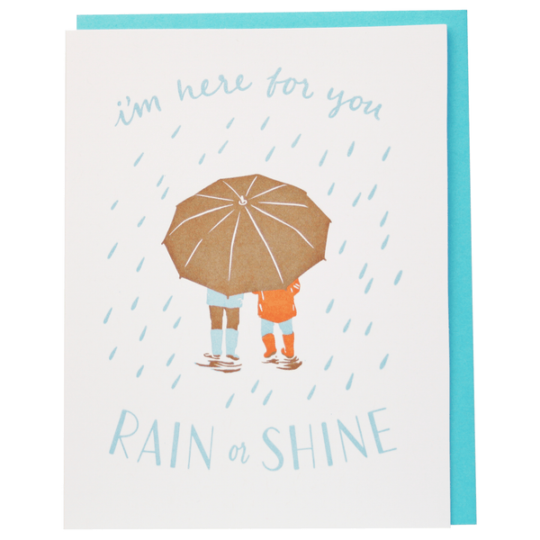 Rain Shower Thinking of You Card