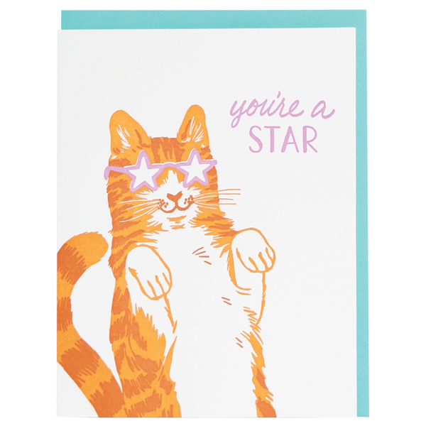 Star Cat Friendship Card