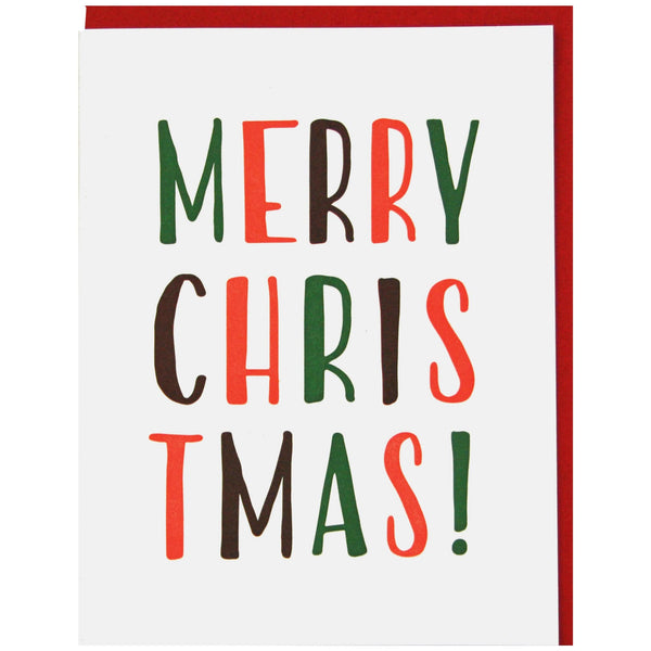 Simply Lettered Christmas Card