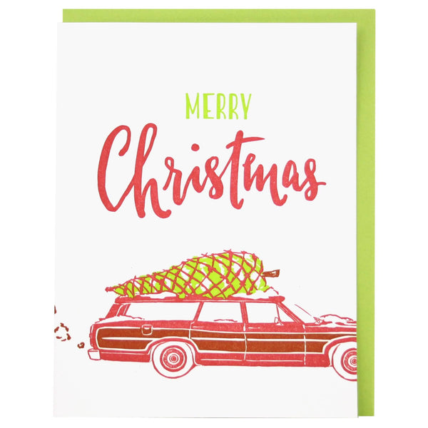 Station Wagon Christmas Card