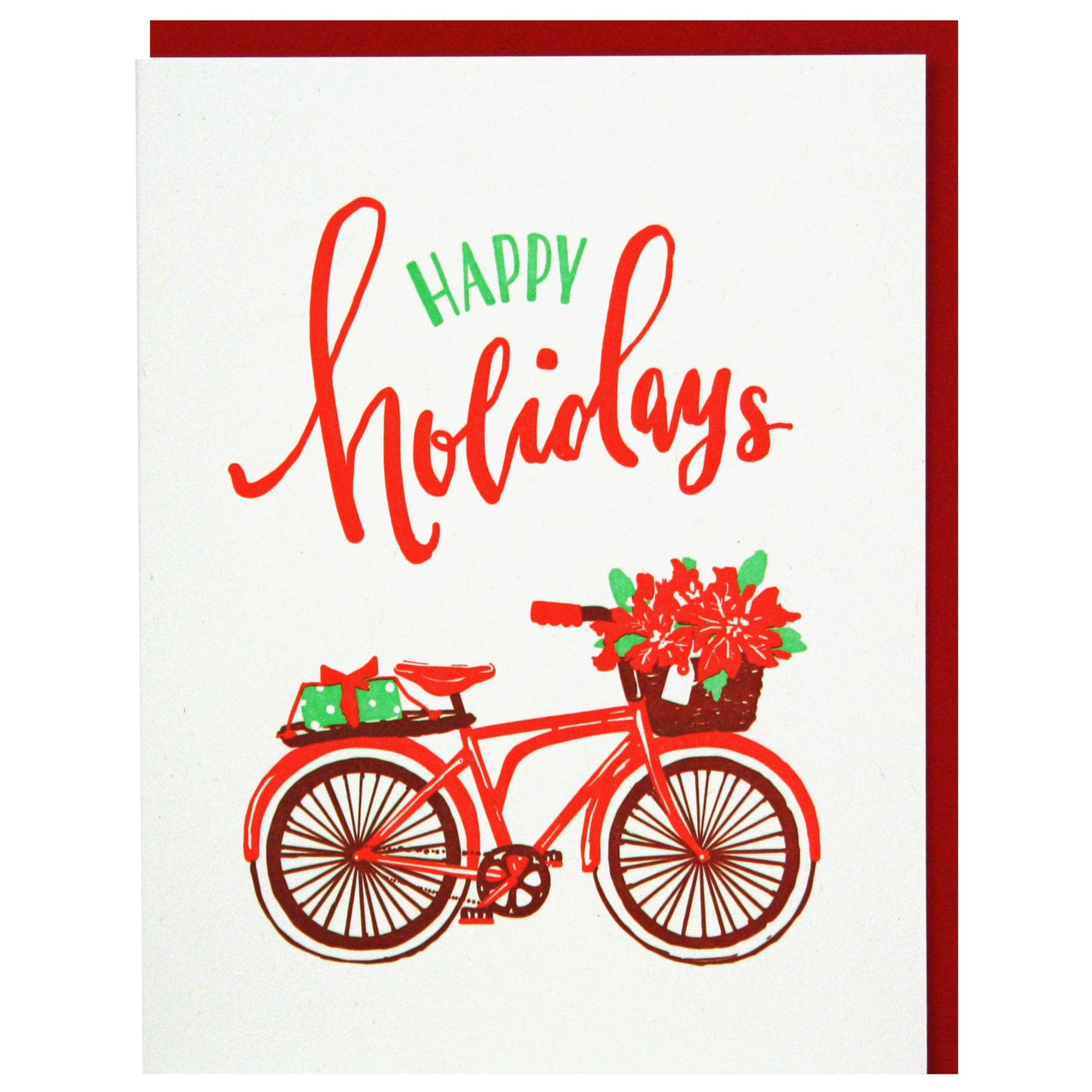 Red Bicycle Holiday Card