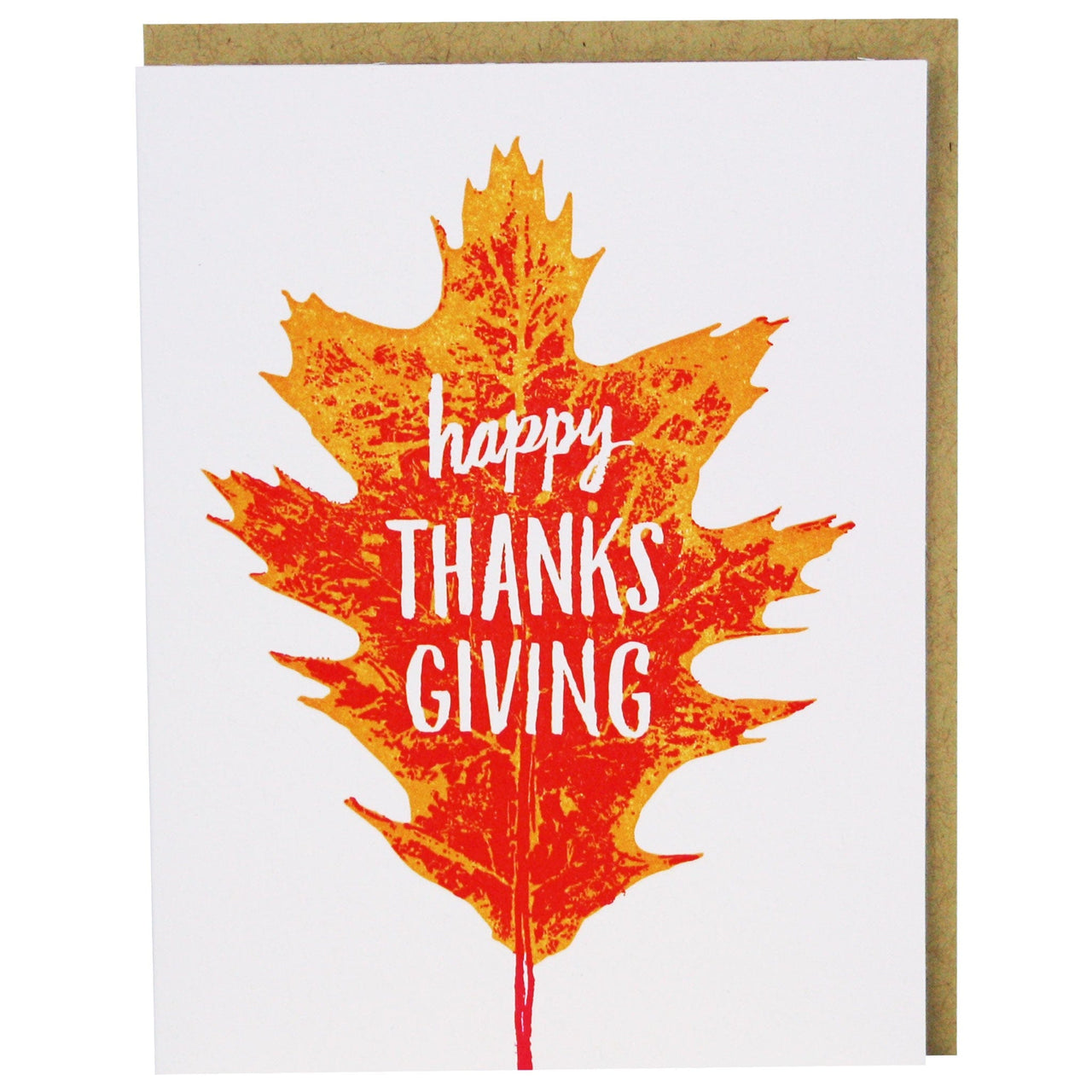 Autumn Leaf Thanksgiving Card