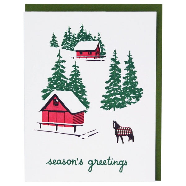 Hillside Cabins Holiday Card