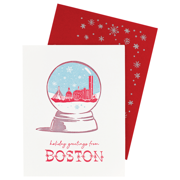 Boston Snow Globe Holiday Card | Smudge Ink