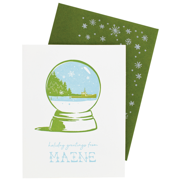 Holiday Greetings From Maine Holiday Card | Smudge Ink