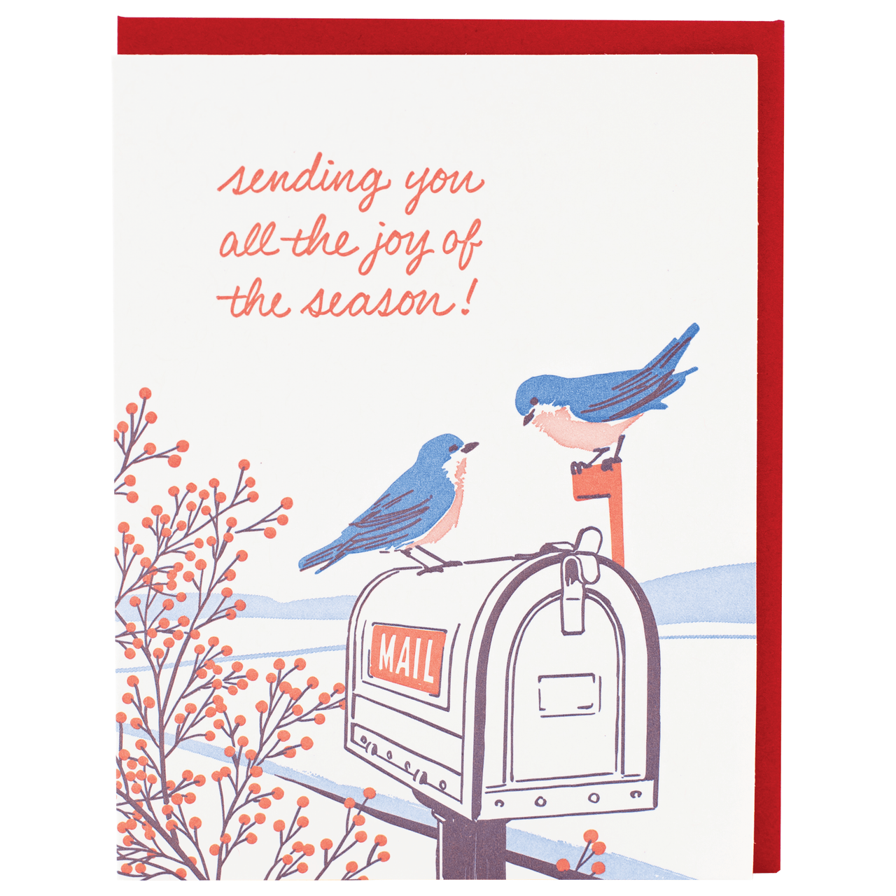 Bluebirds Holiday Card