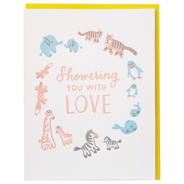 Stuffed Animals Baby Shower Card