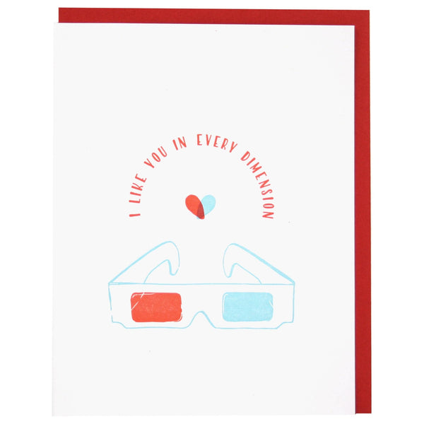 3D Glasses Love Card