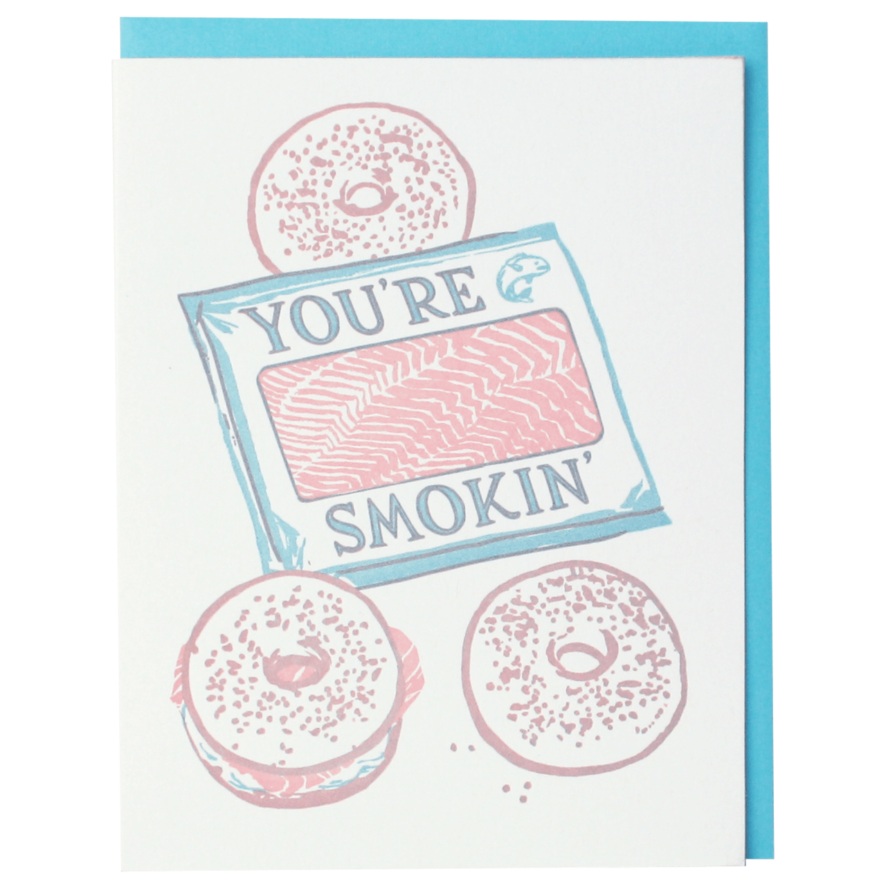 Lox and Bagels Love Card