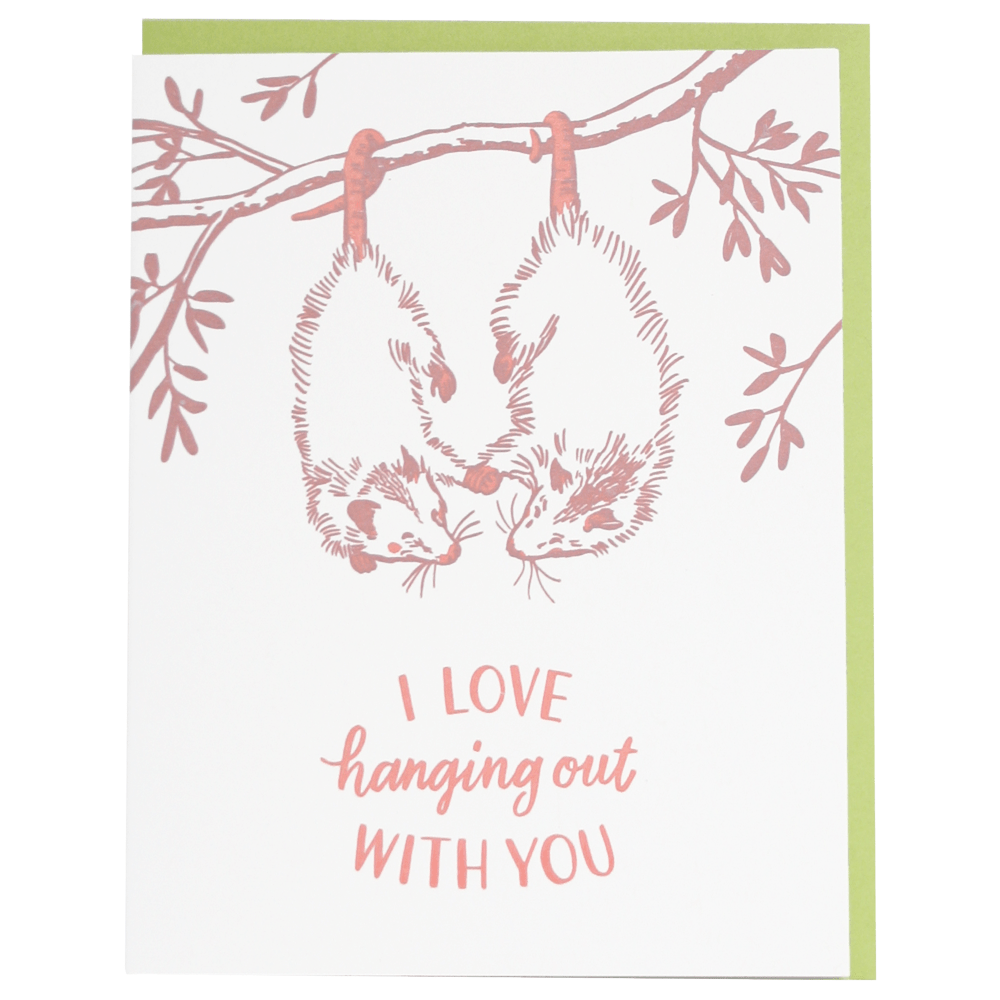 Opossums Love Card
