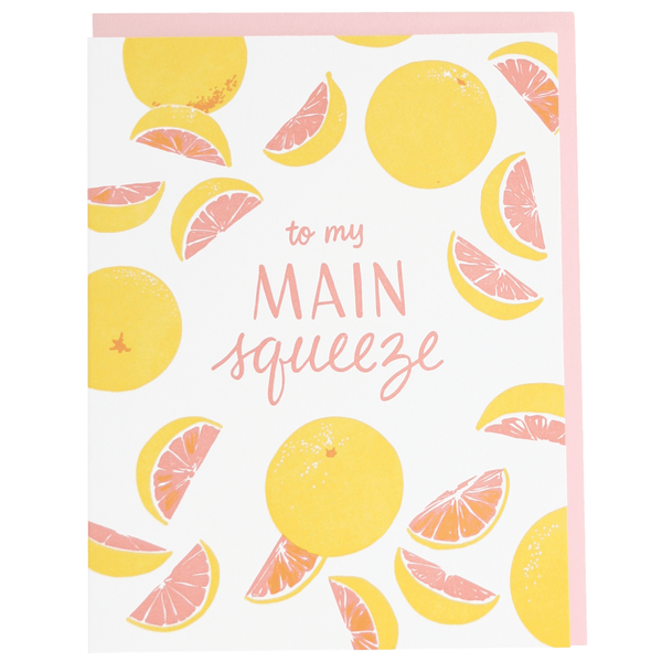 Pink Grapefruit Love Card