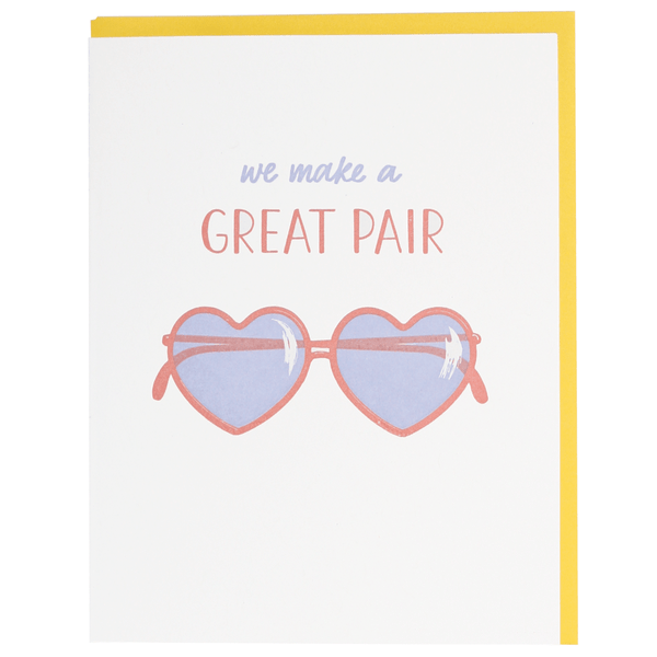 Heart Sunglasses Love Card