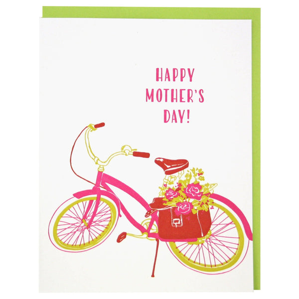 Bike With Flowers Mother's Day Card
