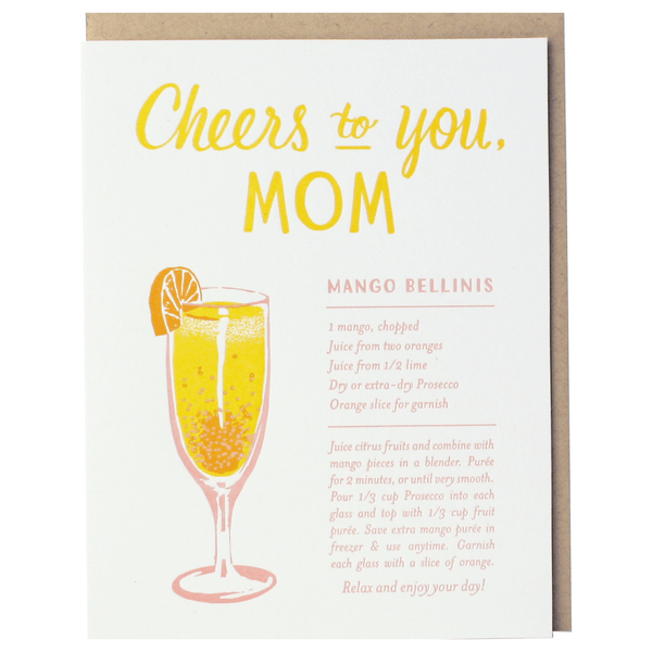 Mango Bellinis Recipe Mother's Day Card