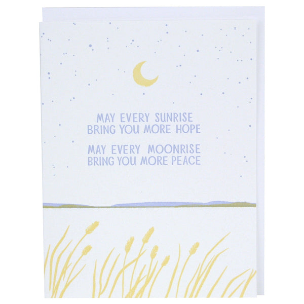 Hope And Peace Quote Sympathy Card