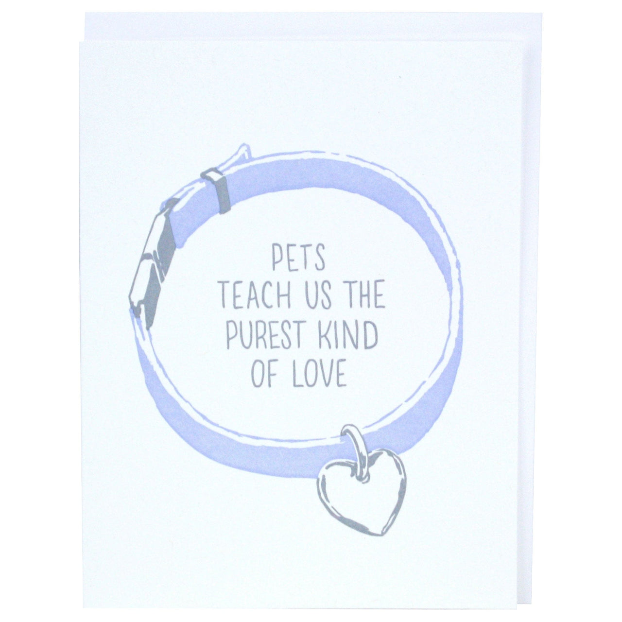 Collar Pet Sympathy Card