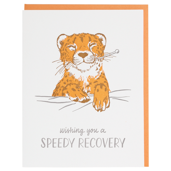 Little Cheetah Get Well Card