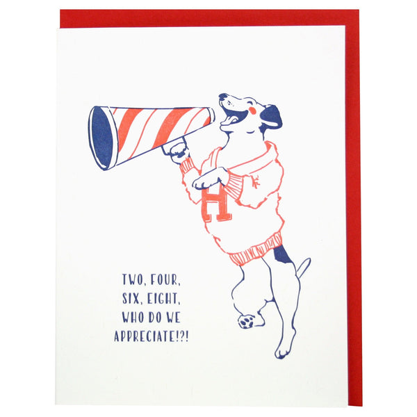 Cheer Dog Thank You Card
