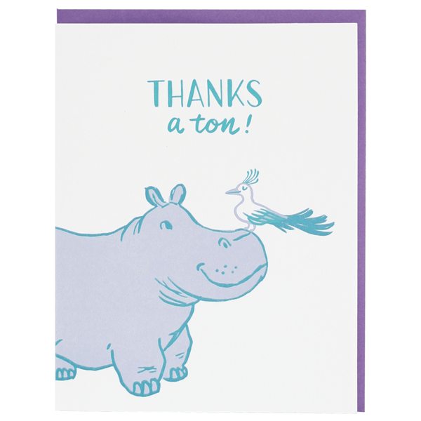 Hippo Thank You Card