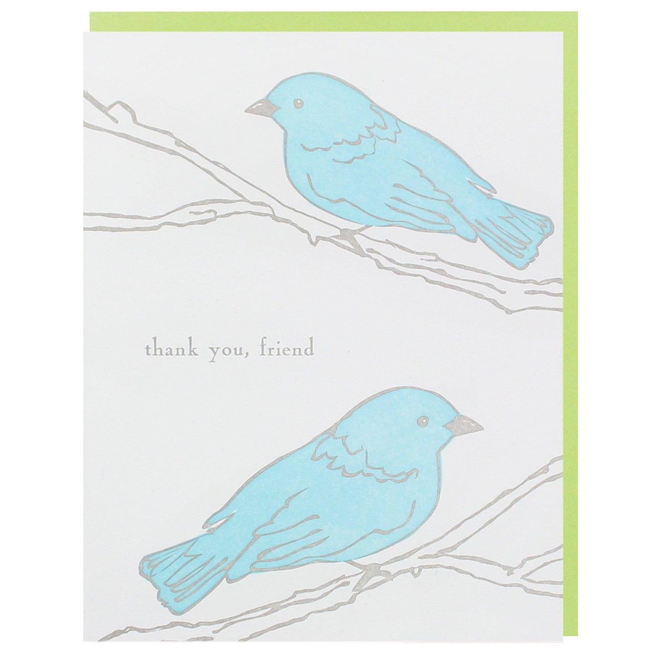 Birds on Branches Thank You Card