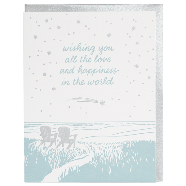 Adirondack Chairs Wedding Card