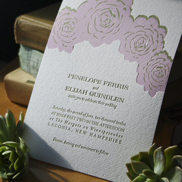 Terra Letterpress Invitation