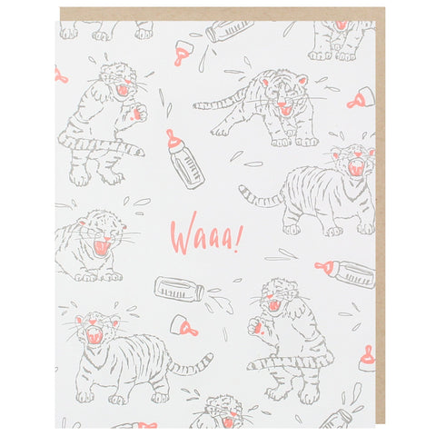 Tiger Cubs Baby Card