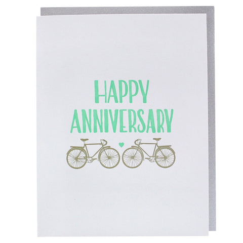 Two Bikes Anniversary Card