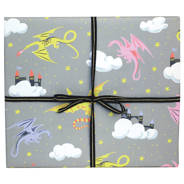Dragons and Castles Gift Wrap