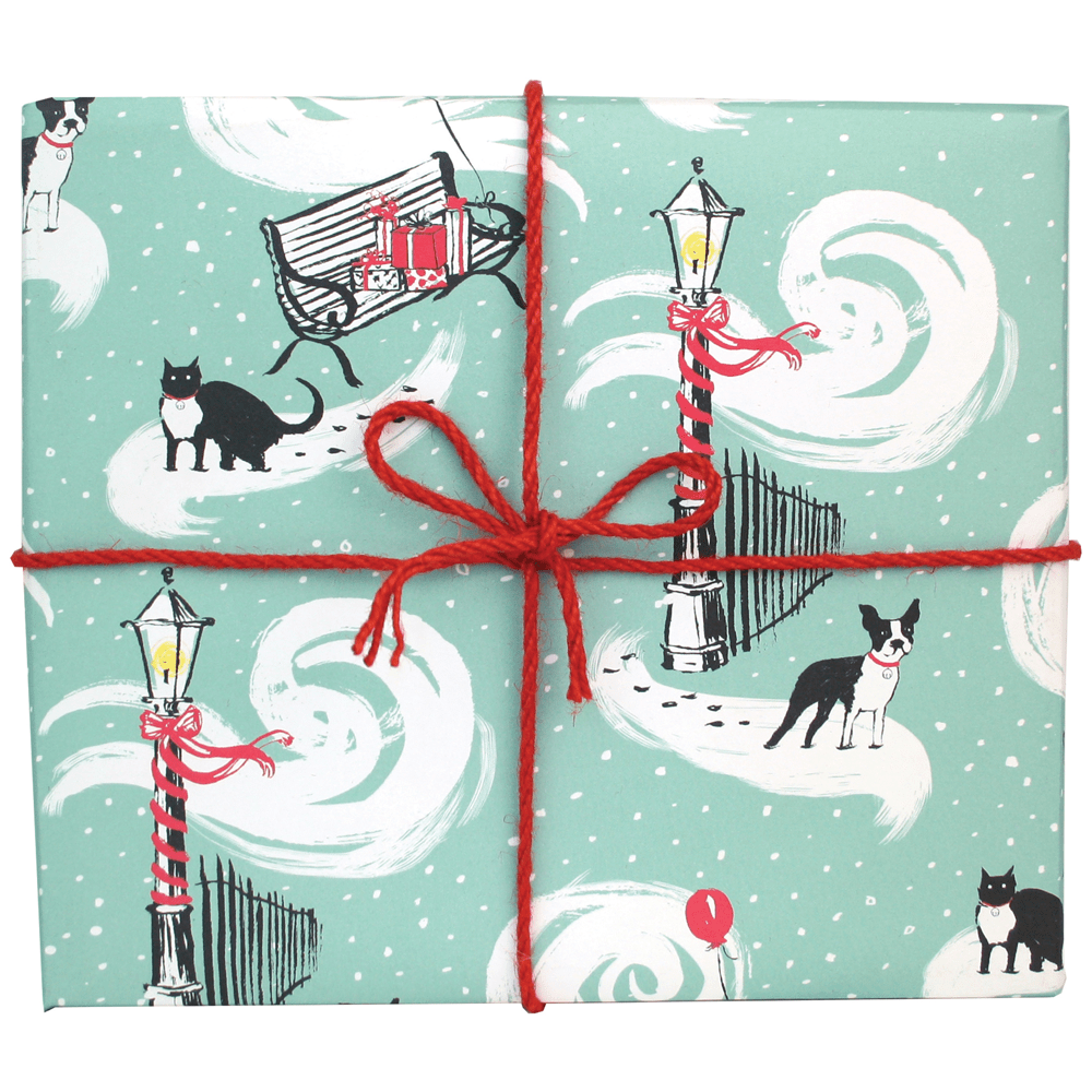 City Cat and Dog Gift Wrap