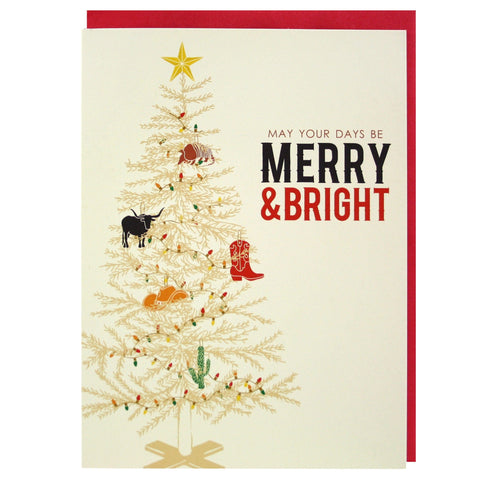 Wild West Christmas Tree Card