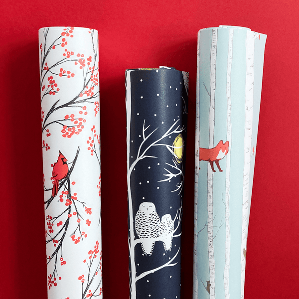 Winter Animals Gift Wrap Set