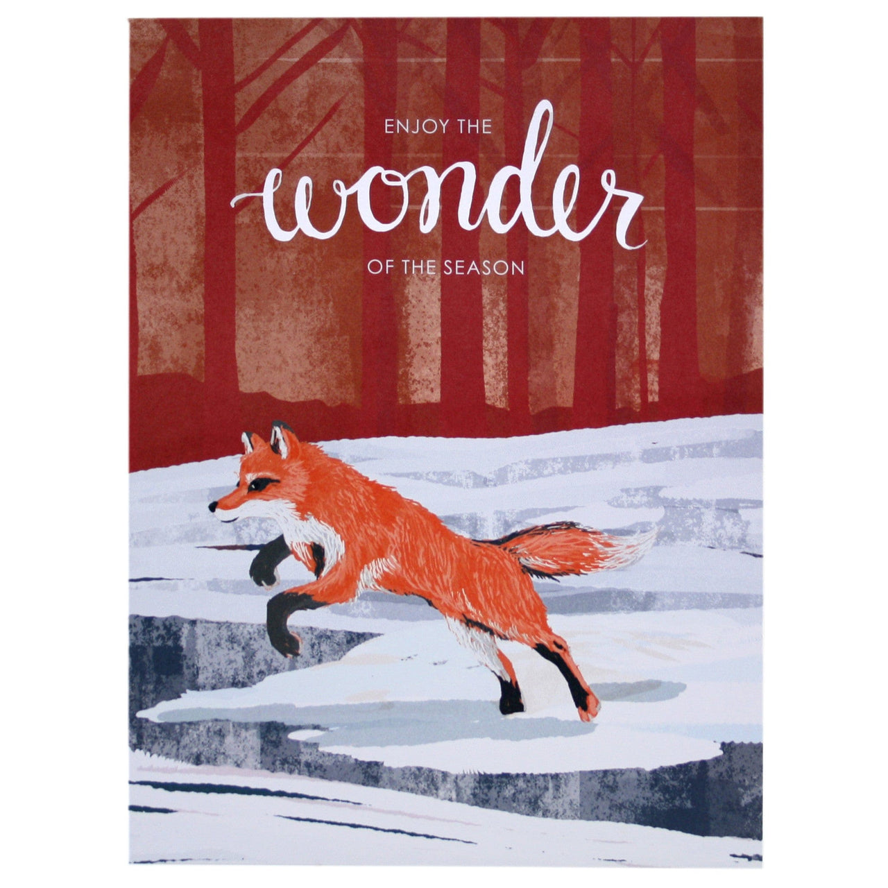 Winter Fox Holiday Card